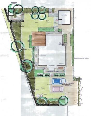 Tekening tuin perfect tuinontwerp tuin met zwemvijver for Tekening op schaal maken